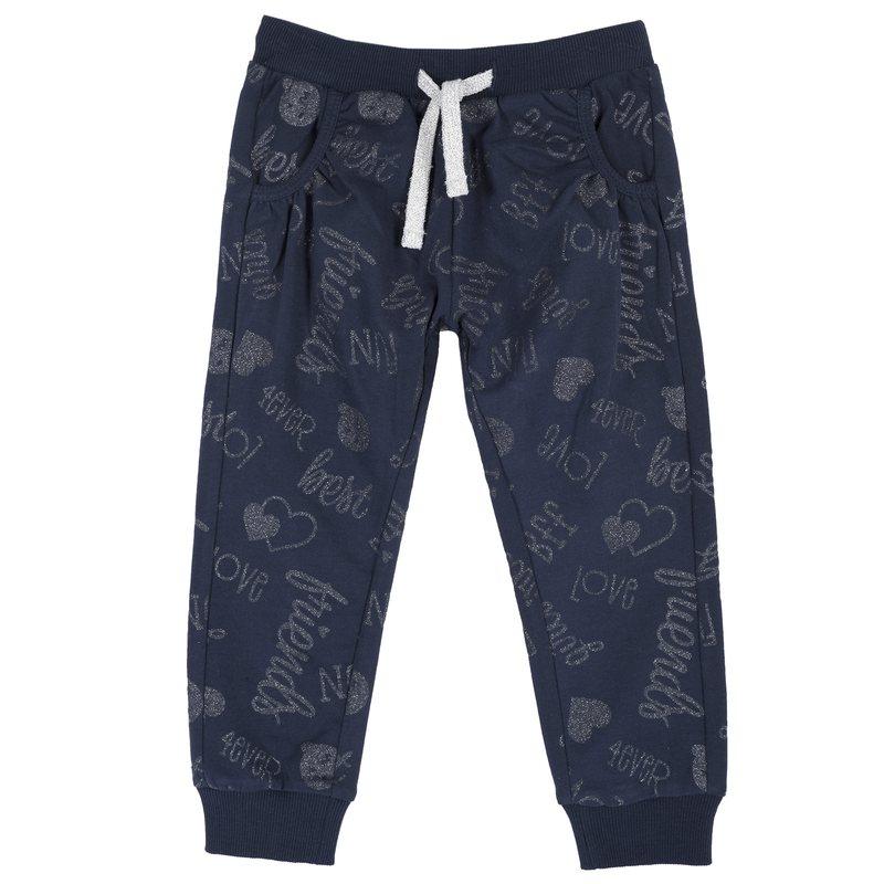 Pantalone di felpa con fantasia all over