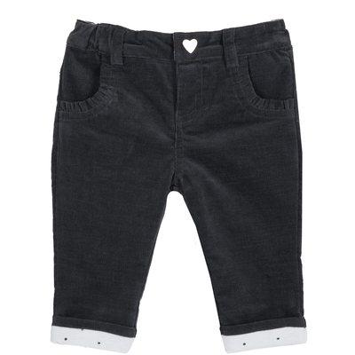 Pantalone con bottoncino a cuore