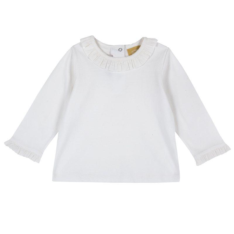 Maglietta con manica lunga e volant