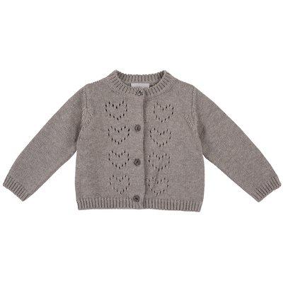 Cardigan di tricot misto cotone e lana