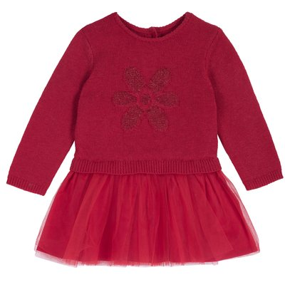 Vestito di tricot con gonna di tulle