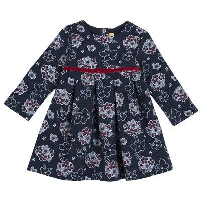 Vestito floreale di punto milano