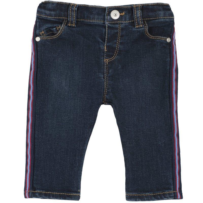 Jeans regular fit con bande verticali