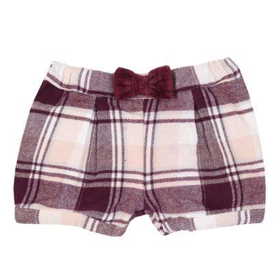 Pantaloncini di flanella con fiocco