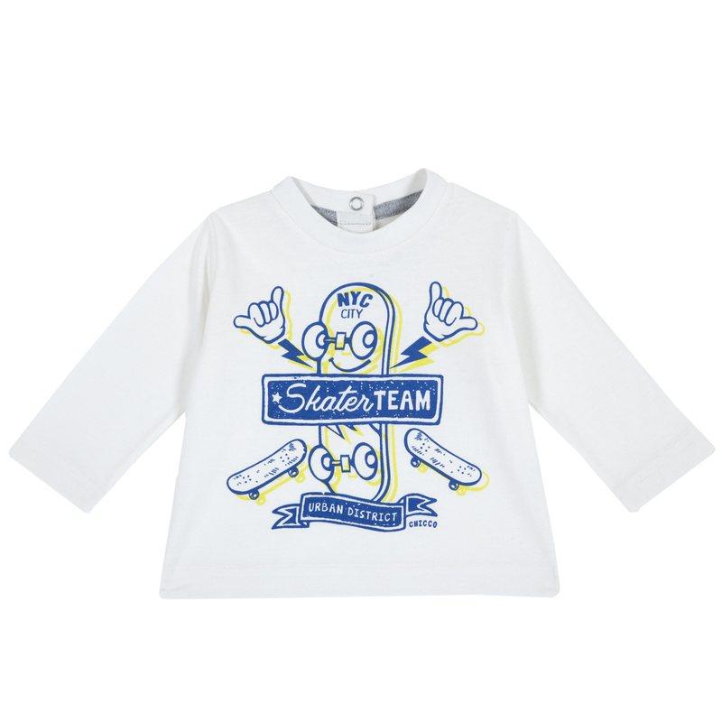 Maglietta con manica lunga e stampa