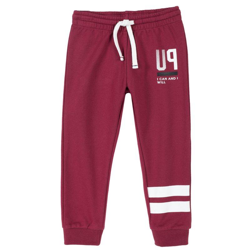 Pantalone lungo di felpa non garzata