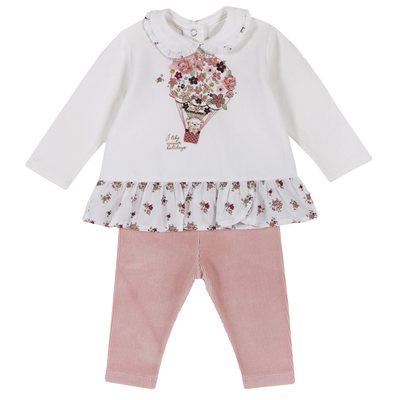 Set maglietta con fiorellini e leggings