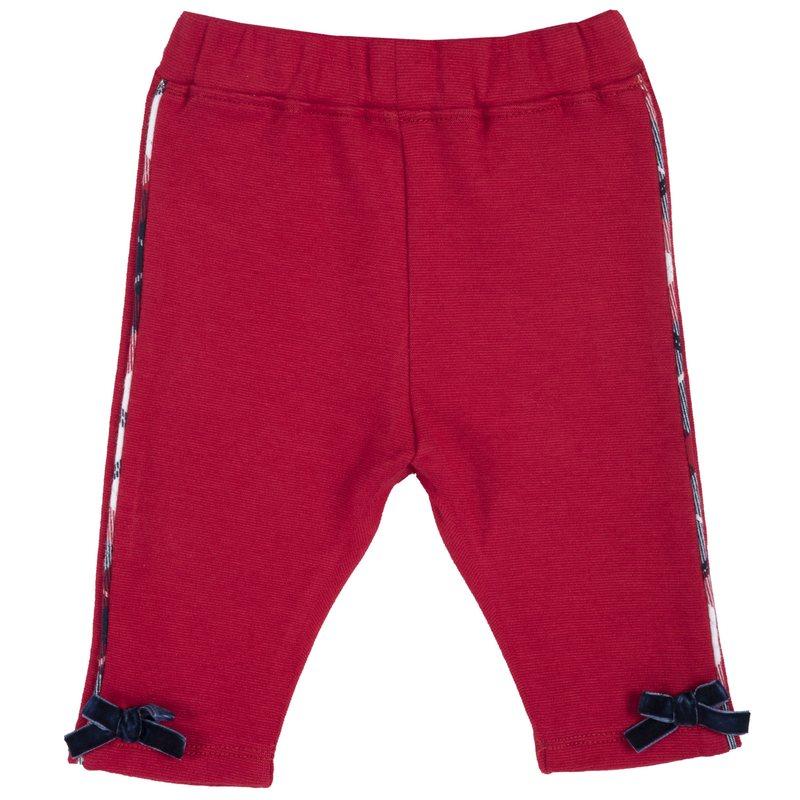 Pantalone di punto milano con fiocchetti