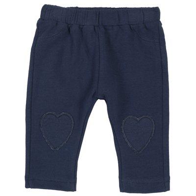Pantalone di felpa con cuori ricamati