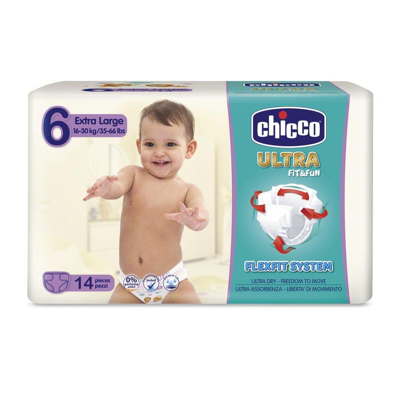 Pannolini Chicco Ultra Soft XL 16-30 kg taglia 6