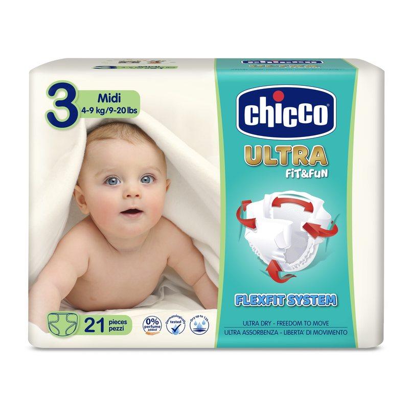 Pannolini Chicco Ultra Soft Midi 4-9 kg taglia 3