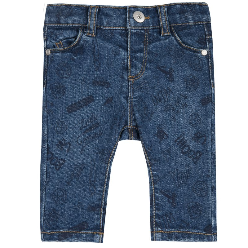Jeans con stampa all over