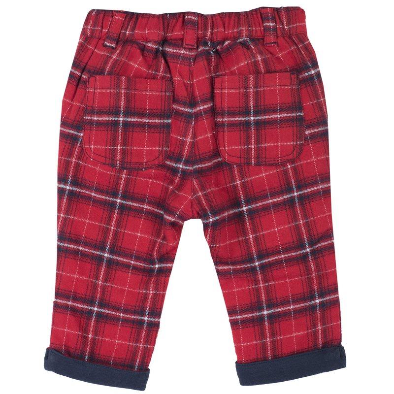 Set maglietta con orsetto e macchinina e pantalone di flanella