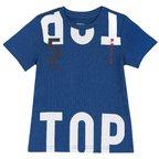 T-shirt con manica corta e stampa 9M BLU MEDIO