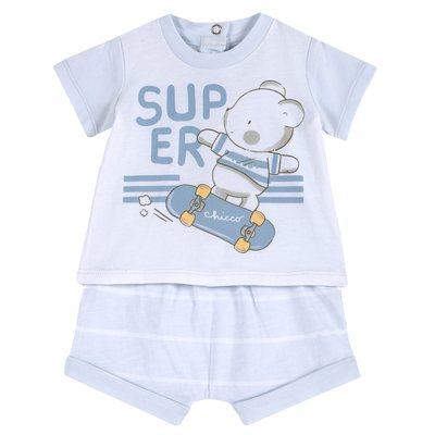 Set t-shirt con stampa e pantaloncini
