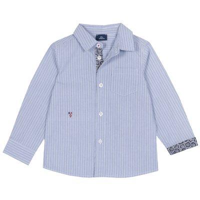 Camicia con taschina e ricamo