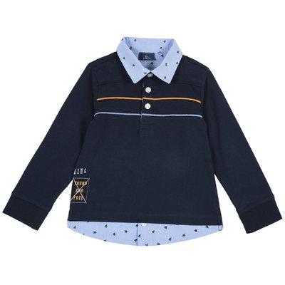Polo con finta camicia