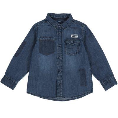 Camicia di jeans con applicazioni