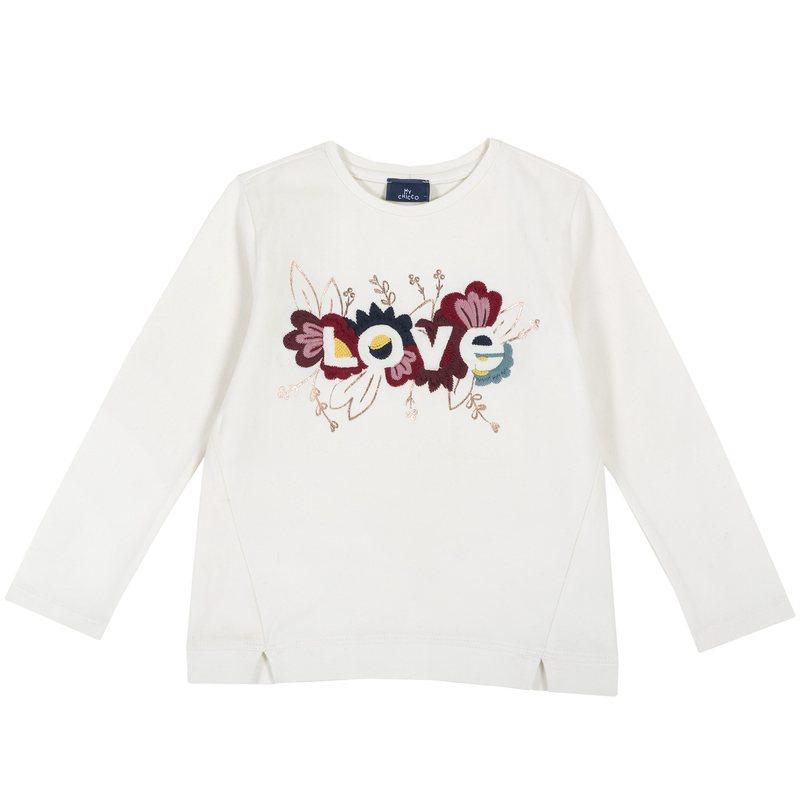 T-shirt con ricami colorati