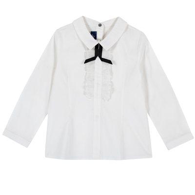 Camicia con laccetto e piccoli volant