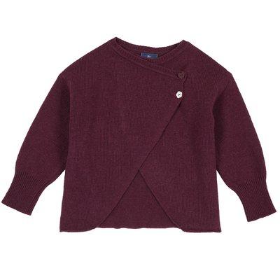 Cardigan di tricot incrociato