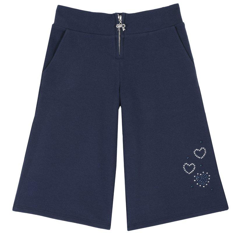 Pantalone con zip e cuoricini