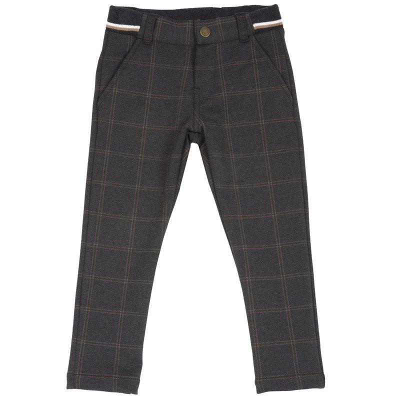 Pantalone di punto milano a quadri 2Y
