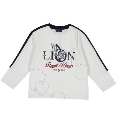 T-shirt con manica lunga e stampa Lion