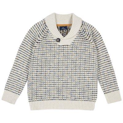 Pullover di tricot misto lana con scollo