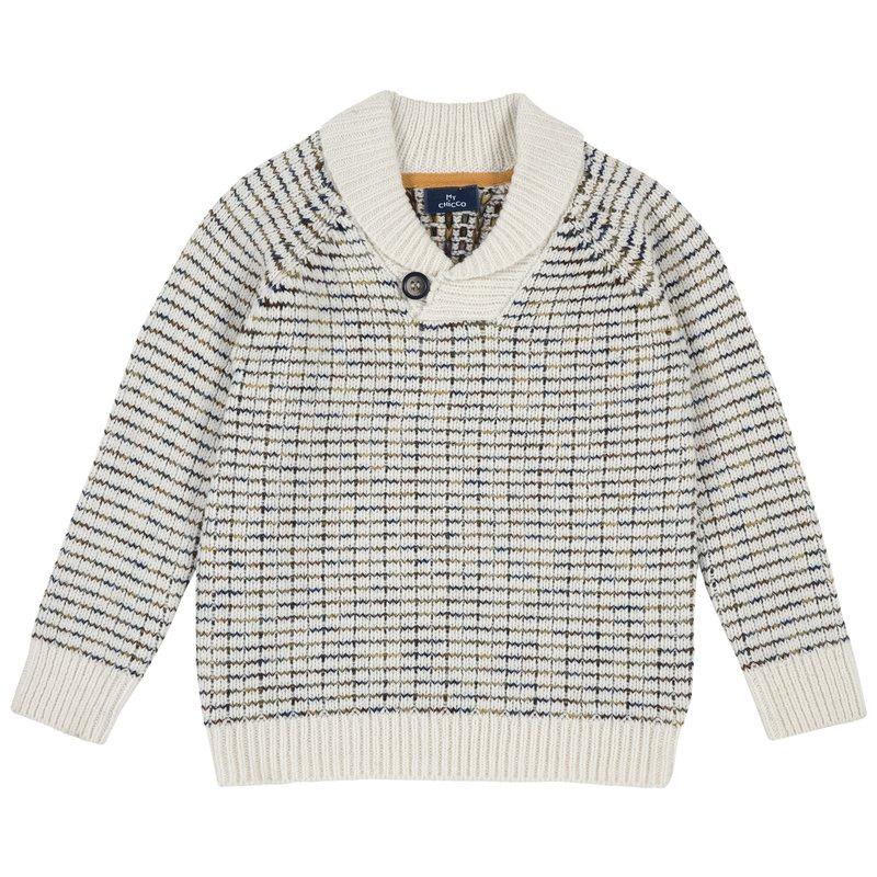 Pullover di tricot misto lana con scollo 2Y