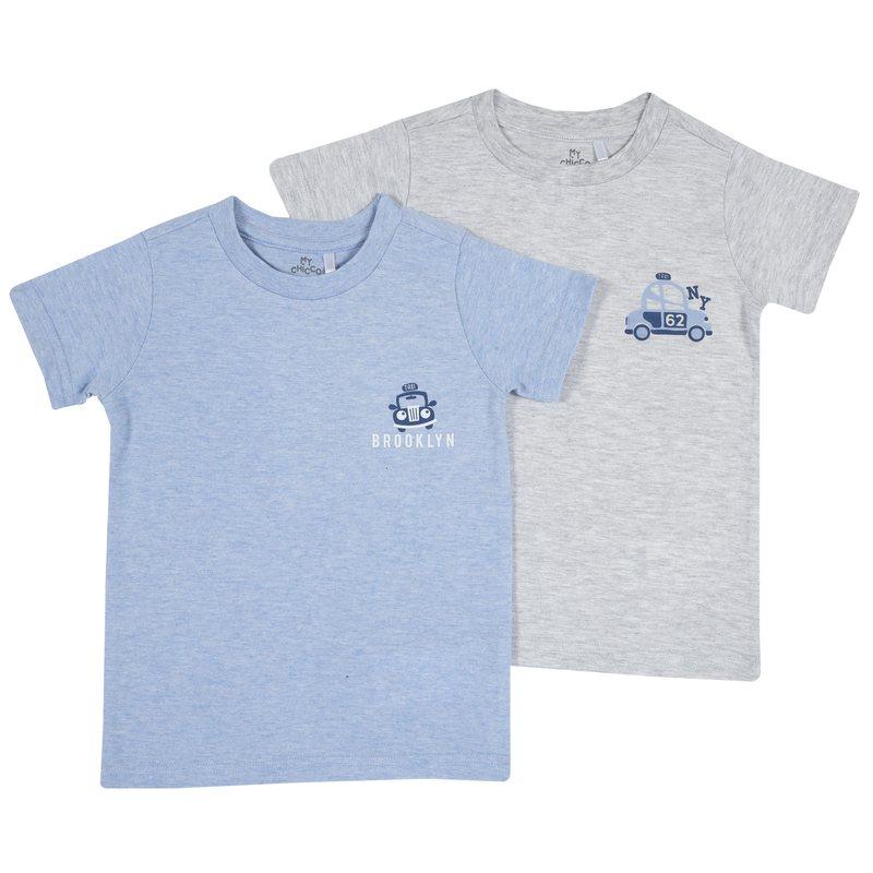 Set due magliette intime con macchinina