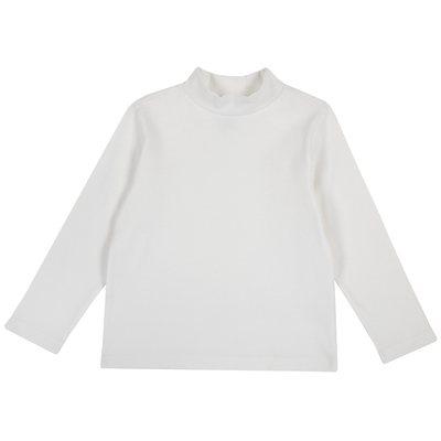 T-shirt con manica lunga e alto colletto