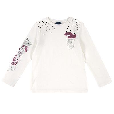 T-shirt di jersey con manica lunga e stampa