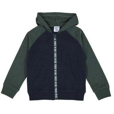 Cardigan di jersey pesante con zip