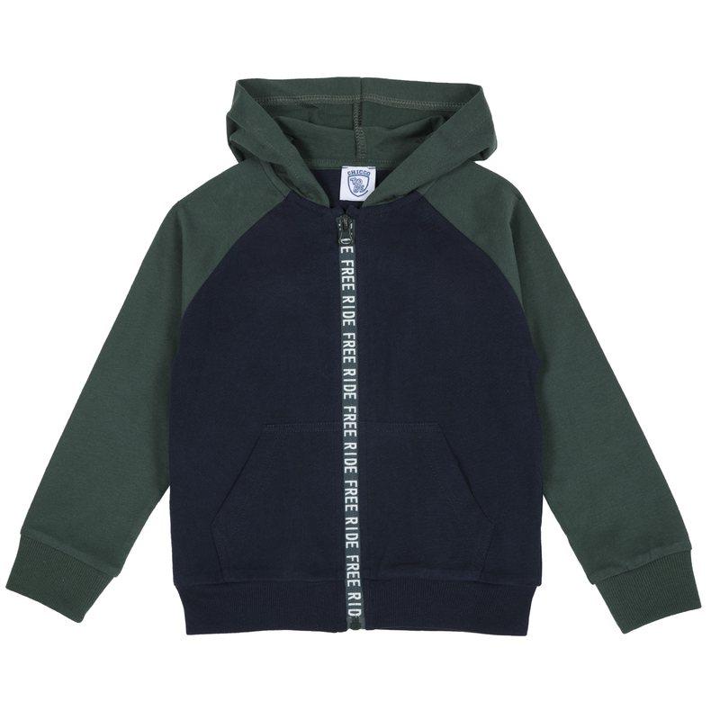 Cardigan di jersey pesante con zip 9M