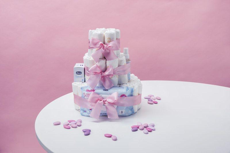 Torta Pannolini Rosa- Standard