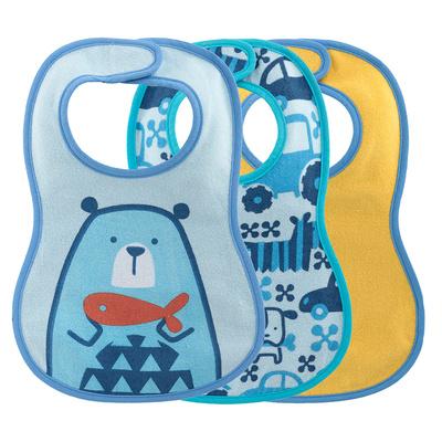 Bavaglina pappa 6m+ azzurro con orso