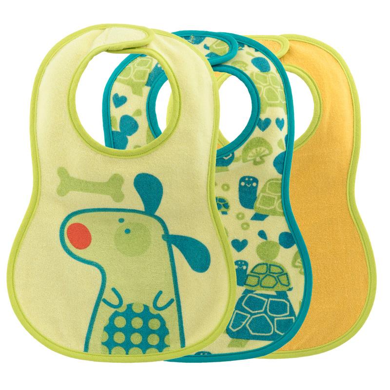 Bavaglina pappa 6m+ verde con cane