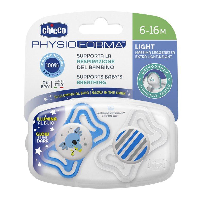 PhysioForma Light 6-16m succhietto 2 pezzi (tettarella in silicone)