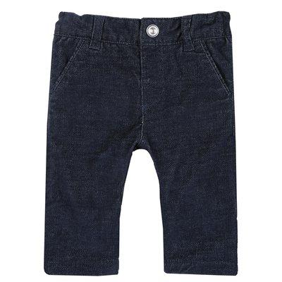 Pantalone lungo di velluto liscio
